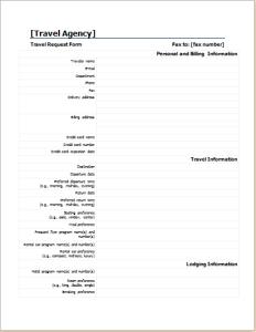 Travel information form
