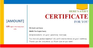 wedding gift certificate template document hub