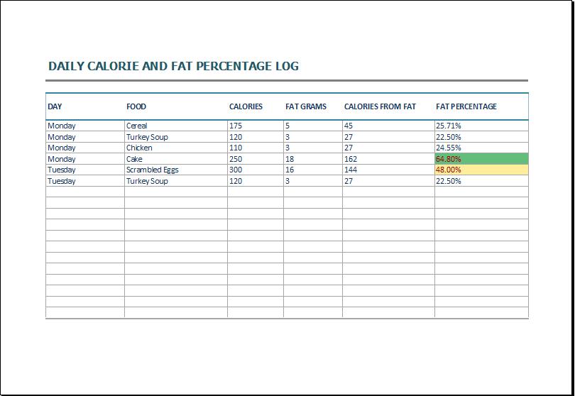 calorie log