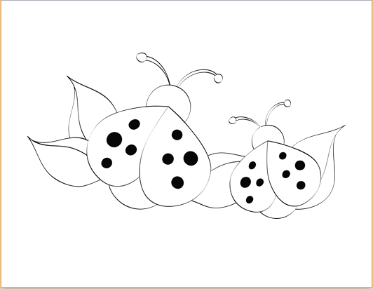 ladybug design coloring sheet