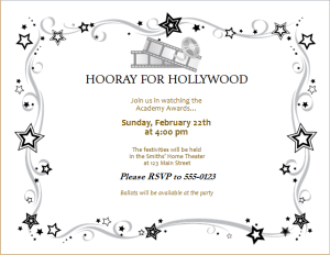 movie award party invitation