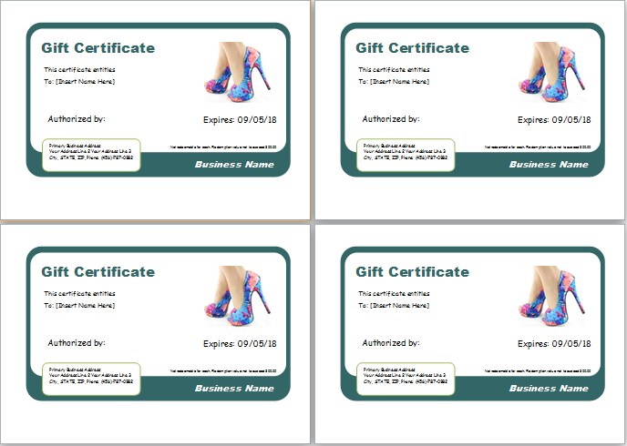shoe shopping gift certificate - Shopping Certificate Template