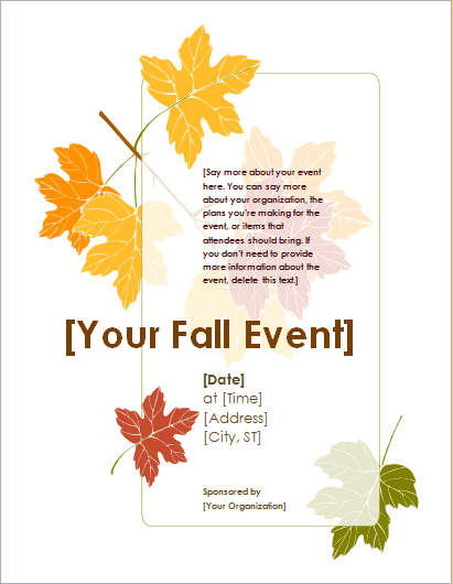 Summer, Spring and Fall Event Flyer Templates | Document Hub
