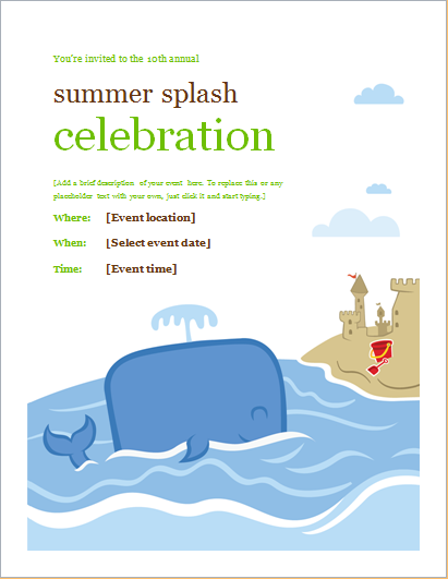 summer spring and fall event flyer templates document hub