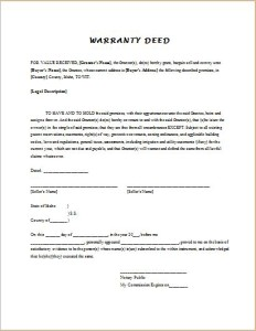 Guarantee Deed Forms