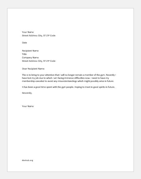 Gym cancellation write up for many reasons document hub gym cancellation letter altavistaventures Image collections