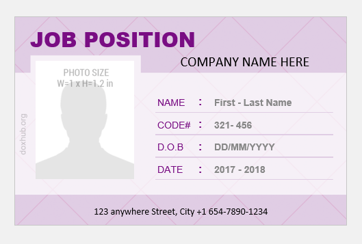 Company employee id card