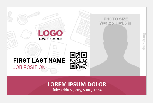 Company Employee Id Card Badge Templates Document Hub