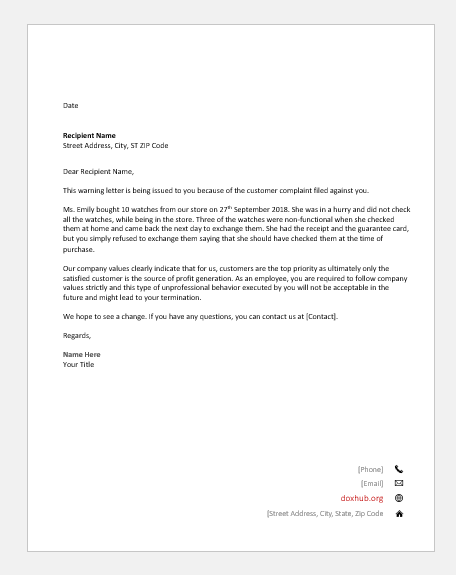 Letter Informing Customers Of Changes from www.doxhub.org