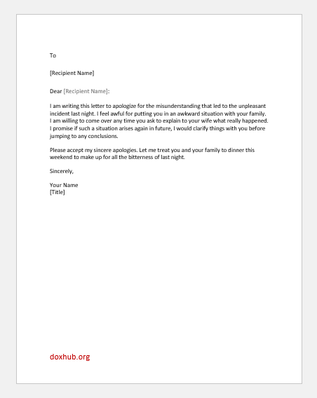 8 Apology Letters to a Friend for Various Reasons | Document Hub