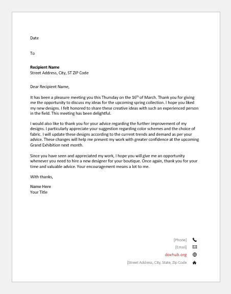 Formal Thank You Letter Format from www.doxhub.org