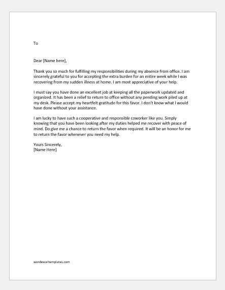 Thank You Letter For Help from www.doxhub.org