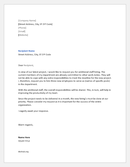 New Hire Letter Sample from www.doxhub.org