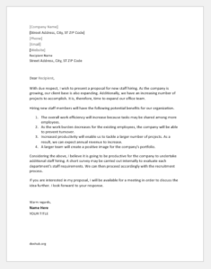 Proposal Letter to Hire Additional Staff