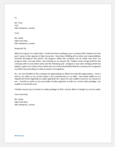 Salary Issue Complaint Letter