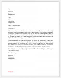 Grievance Letter to Boss for Insulting Employees