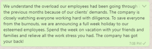 Holiday Shutdown Notice to Employees