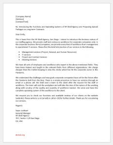 Staffing Agency Introduction Letter to Client