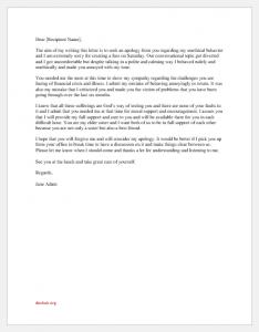 Apology Letter to Family for Bad Behavior