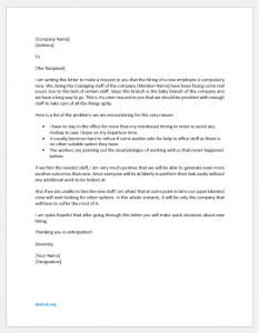 Letter to Boss to Hire New Employee