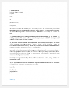Wedding Catering Agreement Letter