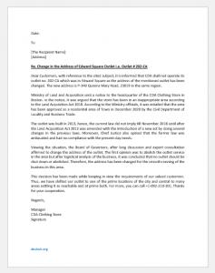 Business change of address letter