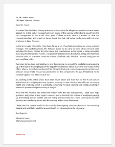 Response Letter to Allegations of Misconduct
