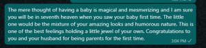 Welcome to motherhood messages